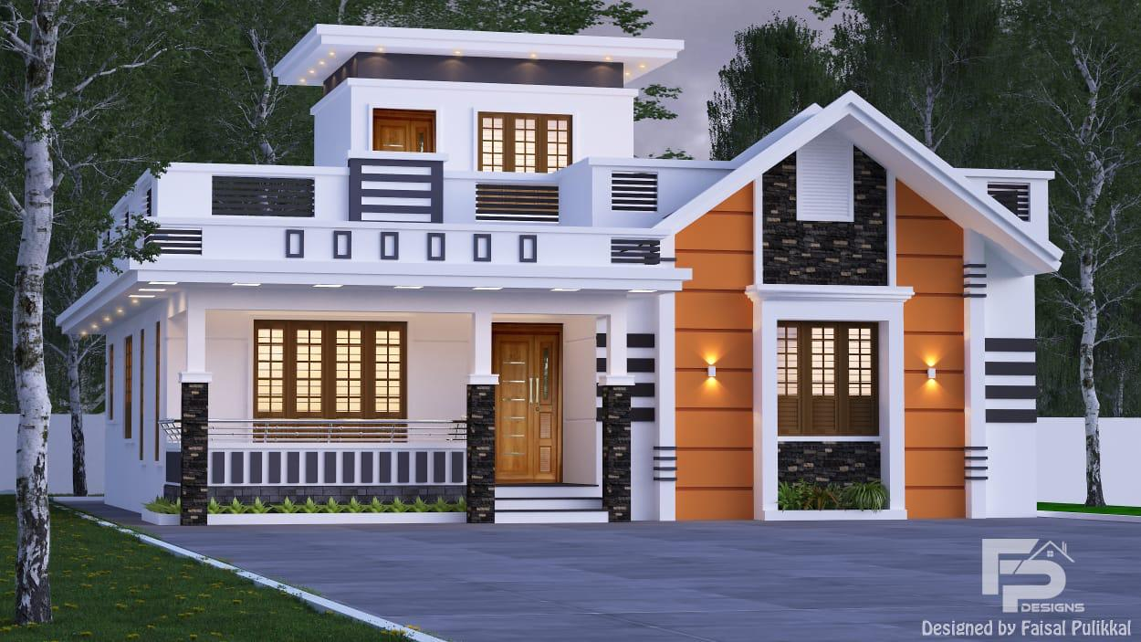 1100 Sq Ft 2BHK Modern Single Floor House and Free Plan