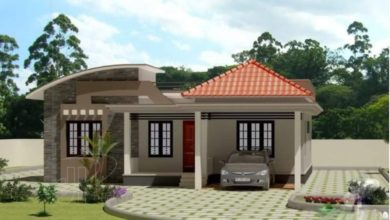 Photo of 1100 Sq Ft 3BHK Contemporary Style Modern House and Free Plan