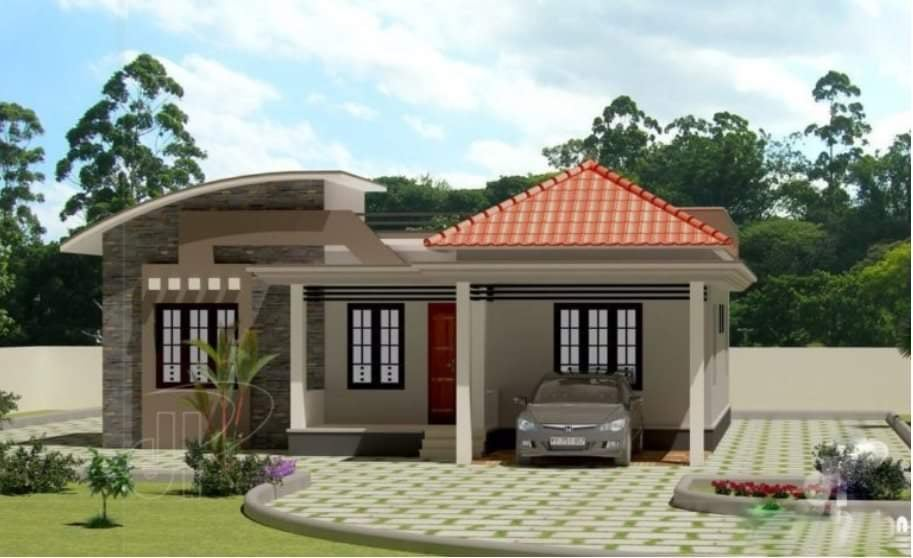 1100 Sq Ft 3BHK Contemporary Style Modern House and Free Plan