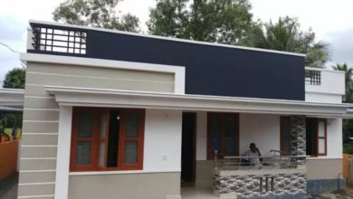 Photo of 1100 Sq Ft 3BHK Modern Single Floor Low Budget House and Free Plan