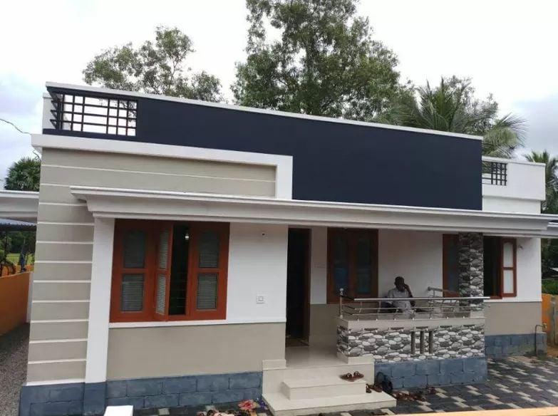 1100 Sq Ft 3BHK Modern Single Floor Low Budget House and Free Plan