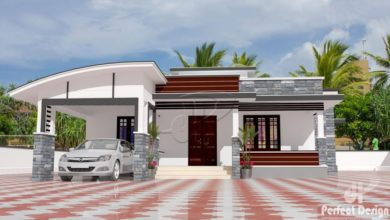 Photo of 1108 Sq Ft 3BHK Contemporary Style 3BHK House and Free Plan