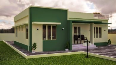 Photo of 1155 Sq Ft 3BHK Modern Single Floor House and Free Plan
