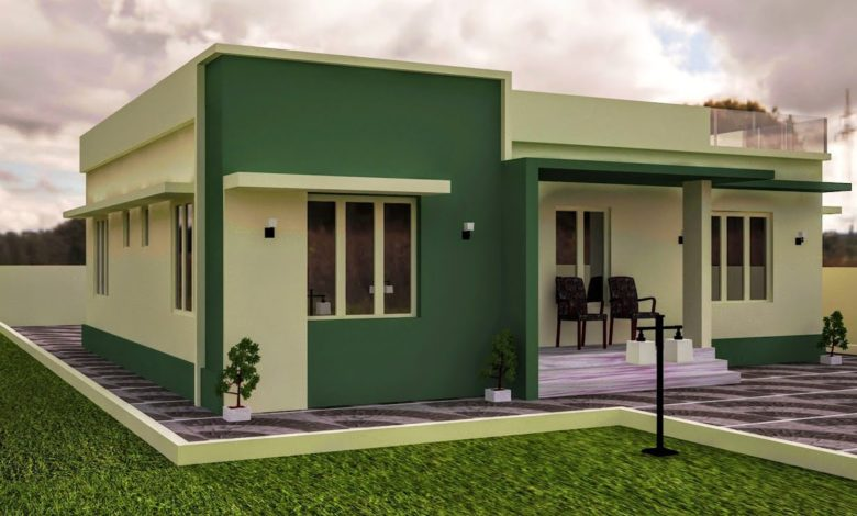 1155 Sq Ft 3BHK Modern Single Floor House and Free Plan