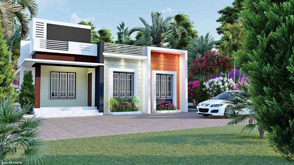1174 Sq Ft 3BHK Modern and Single Floor House and Free Plan
