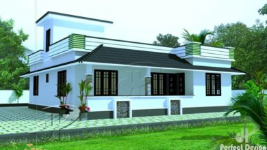 Photo of 1180 Sq Ft 3BHK Traditional Mix Style Single Floor House and Free Plan