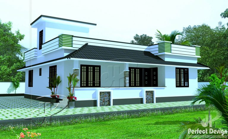 1180 Sq Ft 3BHK Traditional Mix Style Single Floor House and Free Plan
