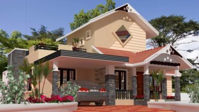 Photo of 1280 Sq Ft 3BHK Traditional Mix Style Single-Storey House and Free Plan