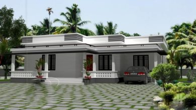 Photo of 1300 Sq Ft 3BHK Modern Single Floor House and Free Plan