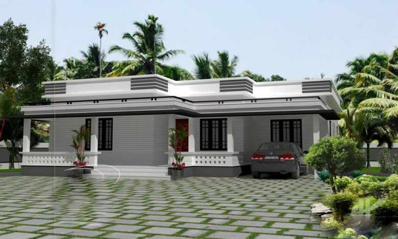 1300 Sq Ft 3BHK Modern Single Floor House and Free Plan