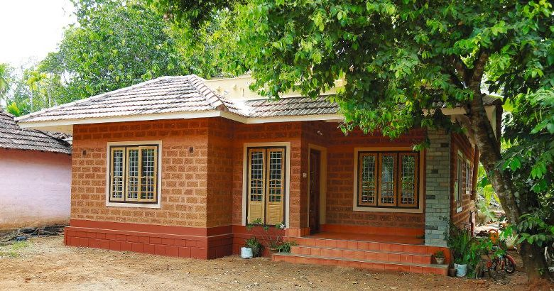 1350 Sq Ft 2BHK Kerala Style Single Floor House and Free Plan, 14 Lacks