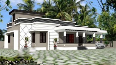 Photo of 1350 Sq Ft 3BHK Modern Single Floor House and Free Plan