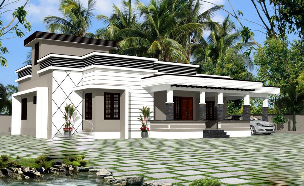 1350 Sq Ft 3BHK Modern Single Floor House and Free Plan