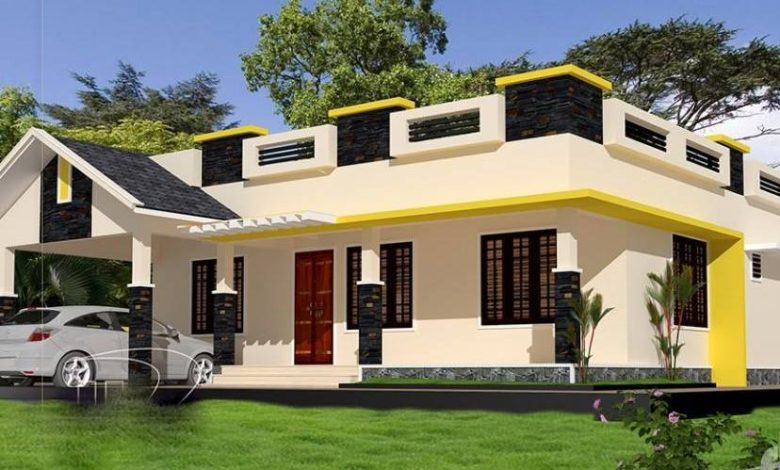 1357 Sq Ft 3BHK Beautiful Single Floor House and Free Plan