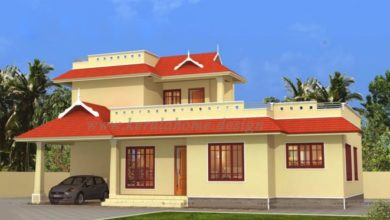 Photo of 1463 Sq Ft 3BHK Traditional Style Two-Storey House and Free Plan
