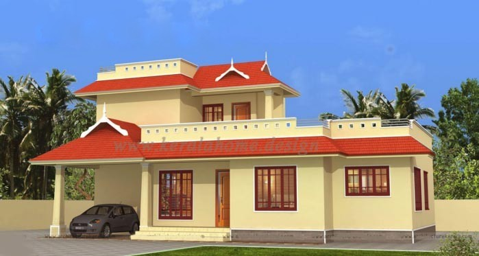 1463 Sq Ft 3BHK Traditional Style Two-Storey House and Free Plan