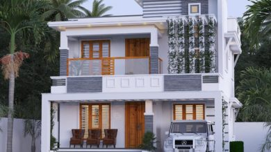 Photo of 1561 Sq Ft 3BHK Contemporary Style Two-Storey House and Free Plan