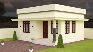 Photo of 420 Sq Ft 2BHK Modern Single Floor Low Budget House and Free Plan