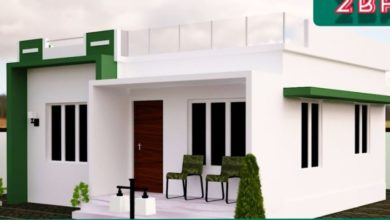 Photo of 525 Sq Ft 2BHK Modern Fusion Style House and Free Plan, 7.6 Lacks