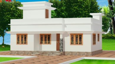 Photo of 696 Sq Ft 2BHK Modern Single Floor House and Free Plan, 10 Lacks