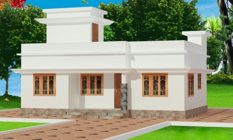 696 Sq Ft 2BHK Modern Single Floor House and Free Plan, 10 Lacks