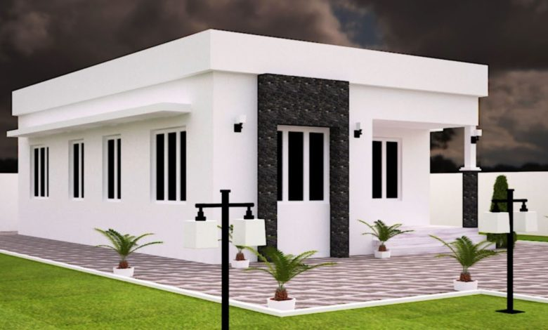 713 Sq Ft 2BHK Modern Single Floor House and Free Plan