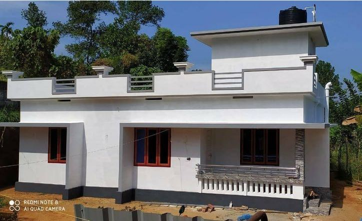 725 Sq Ft 2BHK Modern Single Floor House and Free Plan