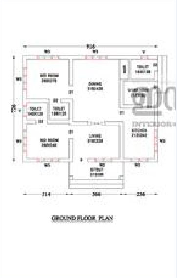 750 Sq Ft 2BHK Modern Single Floor Low Budget House and Free Plan