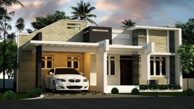 Photo of 842 Sq Ft 2BHK Contemporary Single Floor House and Free Plan