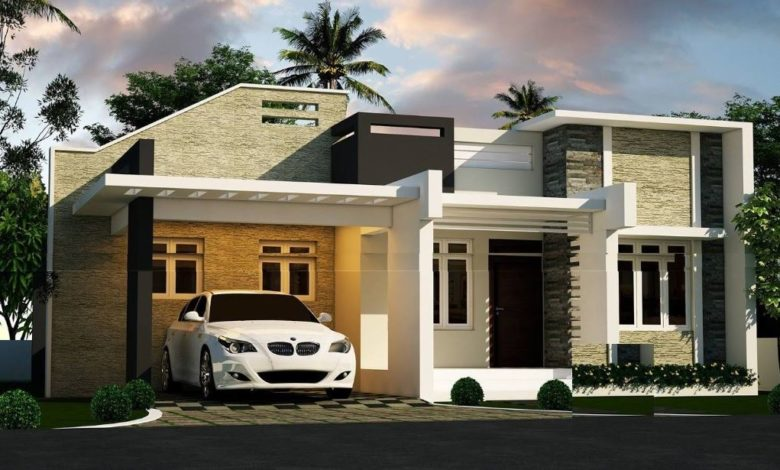 842 Sq Ft 2BHK Contemporary Single Floor House and Free Plan