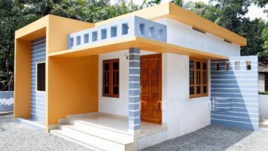 Photo of 893 Sq Ft 2BHK Low Budget Modern Single-Storey House and Free Plan