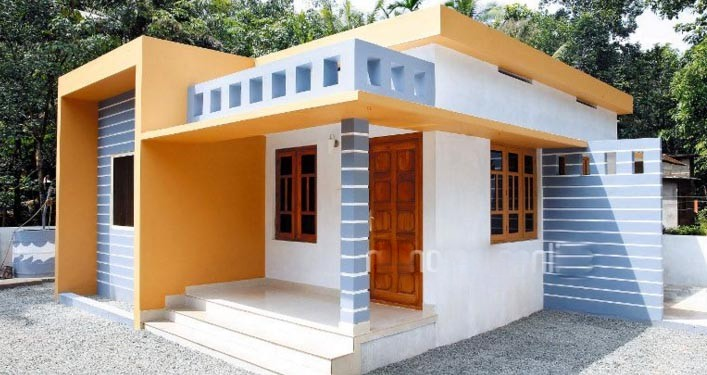 893 Sq Ft 2BHK Low Budget Modern Single-Storey House and Free Plan