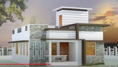 Photo of 900 Sq Ft 2BHK Contemporary Style Single-Storey House and Free Plan