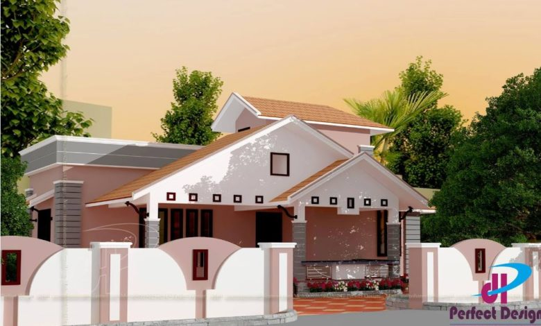 935 Sq Ft 2BHK Traditional Style Single Floor House and Free Plan