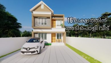 Photo of 959 Sq Ft 3BHK Contemporary Style Two-Storey House and Free Plan