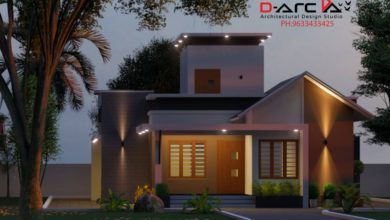 Photo of 975 Sq Ft 2BHK Contemporary Style Single Floor House and Free Plan, 15 Lacks