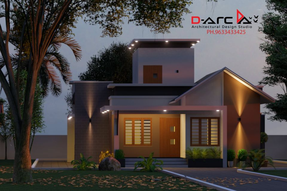 975 Sq Ft 2BHK Contemporary Style Single Floor House and Free Plan, 15 Lacks