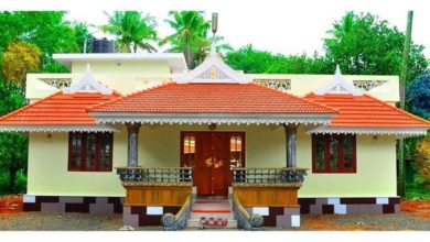 Photo of 984 Sq Ft 3BHK Traditional Style Single Floor House and Free Plan