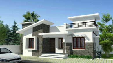 Photo of 988 Sq Ft 3BHK Modern Single Floor Box Type House and Free Plan