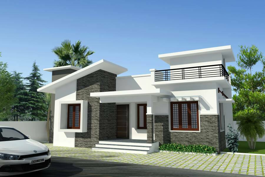 988 Sq Ft 3BHK Modern Single Floor Box Type House and Free Plan