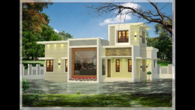 Photo of 1000 Sq Ft 2BHK Contemporary Style 2BHK House and Free Plan