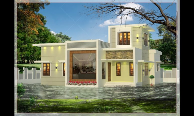 1000 Sq Ft 2BHK Contemporary Style 2BHK House and Free Plan