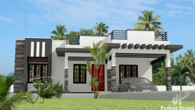 Photo of 1044 Sq Ft 3BHK Modern Low Budget House and Free Plan