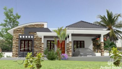 Photo of 1097 Sq Ft 3BHK Contemporary Style Single Floor House and Free Plan