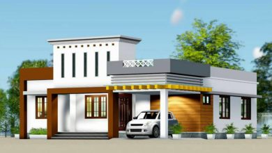 Photo of 1210 Sq Ft 3BHK Fusion Style Single-Storey House and Free Plan