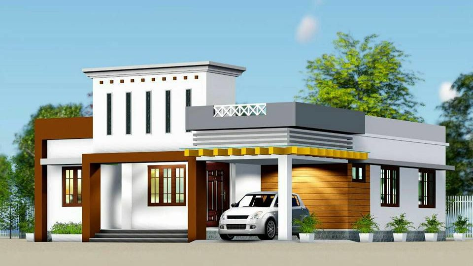 1210 Sq Ft 3BHK Fusion Style Single-Storey House and Free Plan