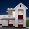 1238 Sq Ft 4BHK Modern and Beautiful Double Floor House and Free Plan