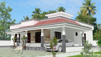 Photo of 1290 Sq Ft 3BHK Traditional Style Single Floor House and Free Plan