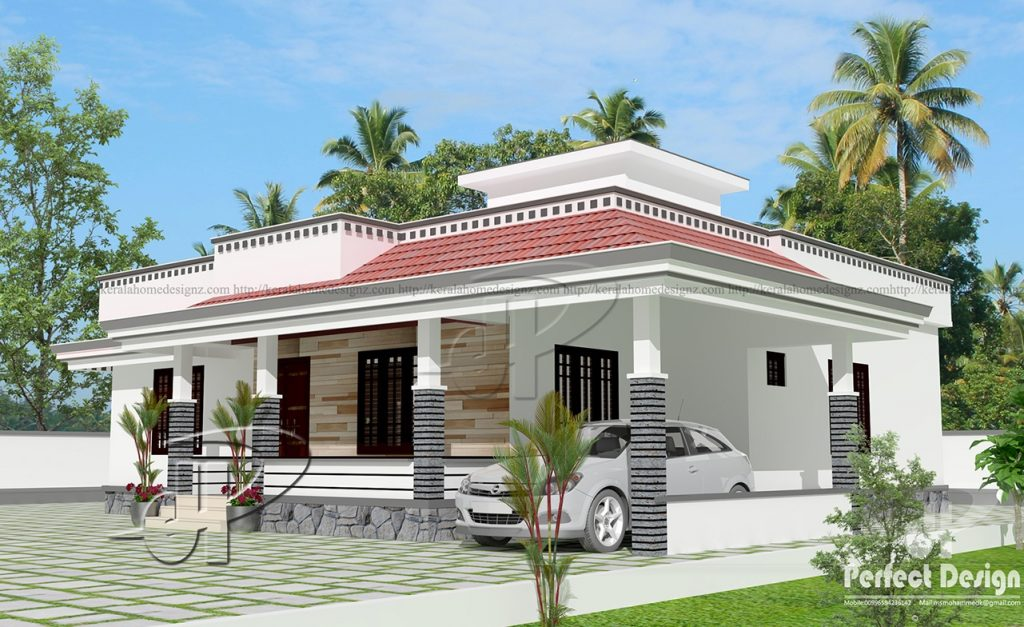 1290 Sq Ft 3BHK Traditional Style Single Floor House and Free Plan