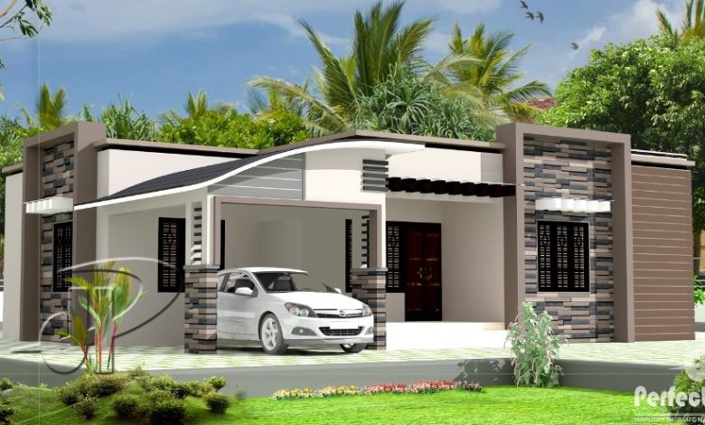 1300 Sq Ft 3BHK Contemporary Style Single Floor House and Free Plan